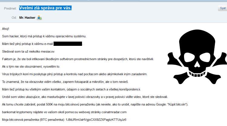 Hacker emaily s bitcoinom
